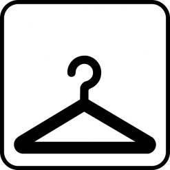 Garderobe. Piktogram skilt