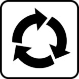Genbrug. Piktogram skilt
