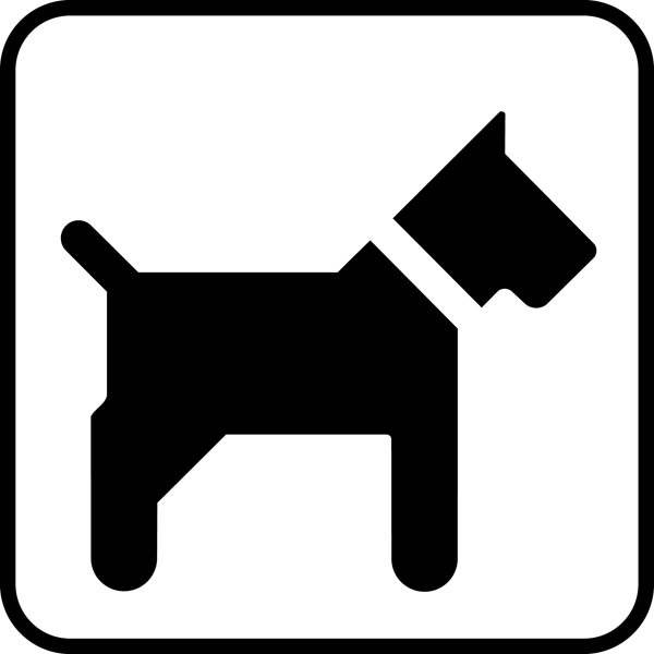 Hund uden snor. Piktogram skilt