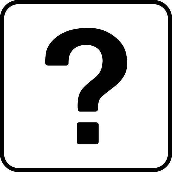 Spørgsmålstegn - Piktogram skilt