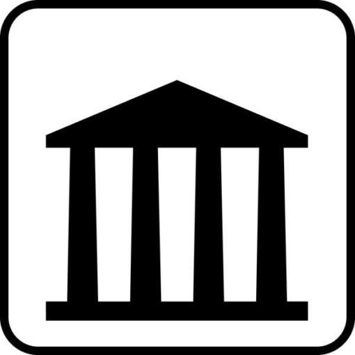 Offentlig bygning Piktogram skilt