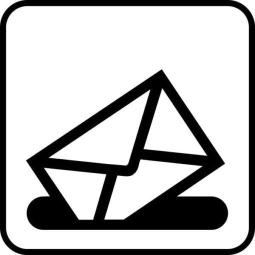 Brevkasse Piktogram skilt