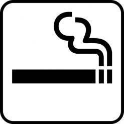 Rygning område piktogram skilt