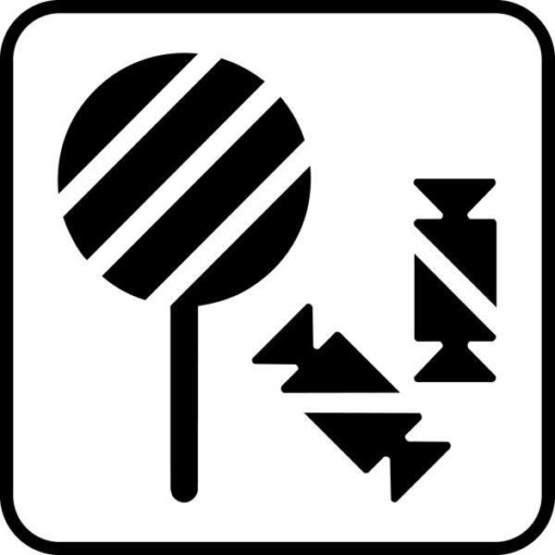 Slik Piktogram skilt