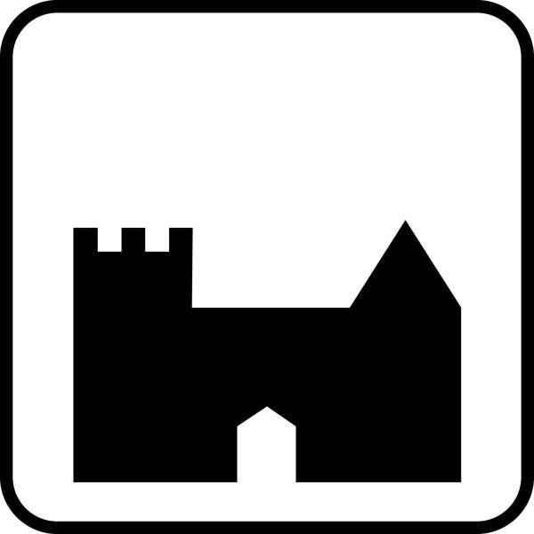 Slots Piktogram skilt