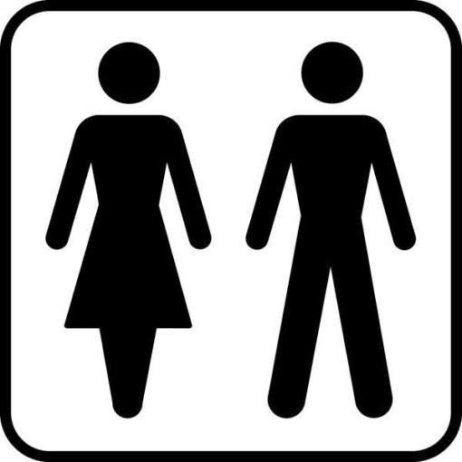 Toiletskilt - Dame herre piktogram