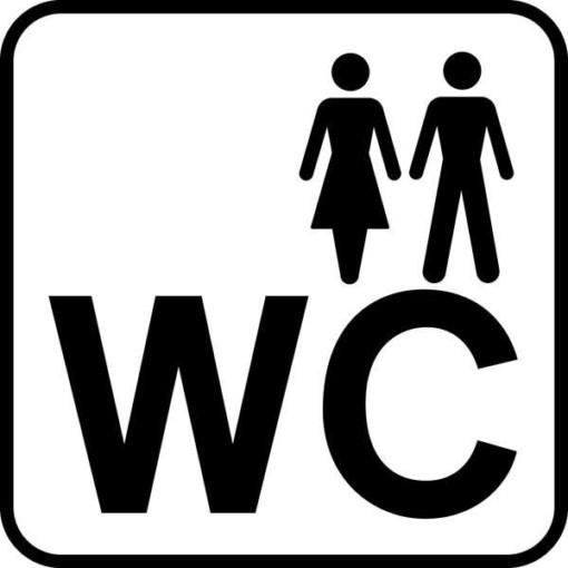 Dame Mand WC Piktogram skilt