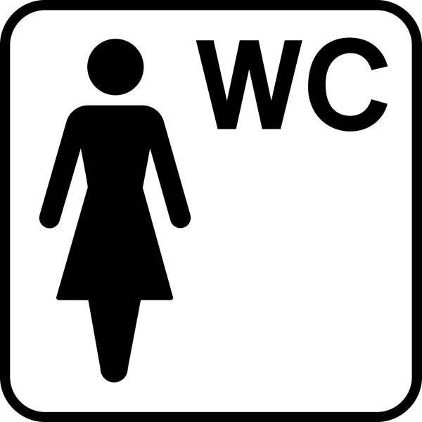 Dame WC Piktogram skilt