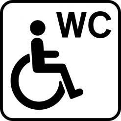 Handicap WC Piktogram skilt