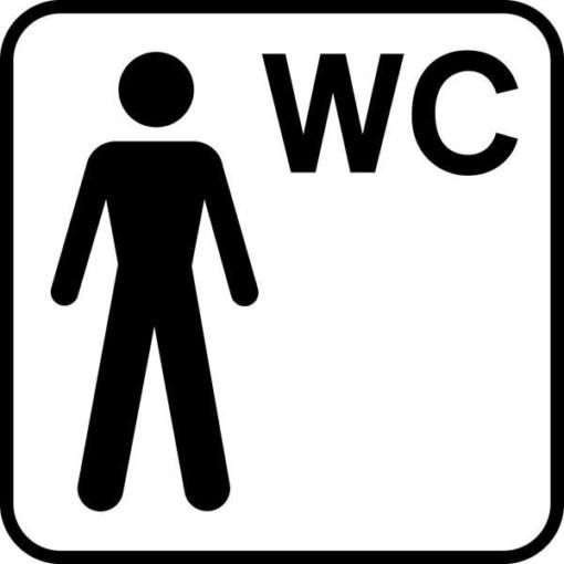 Mand WC Piktogram skilt