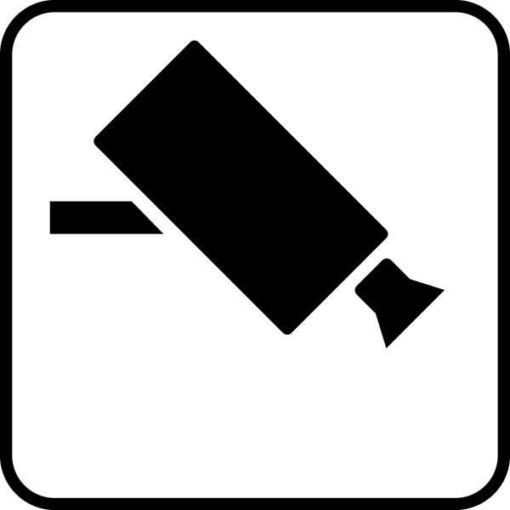 Overvågning Piktogram skilt
