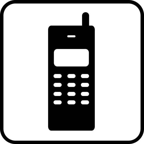 Mobiltelefon Piktogram skilt