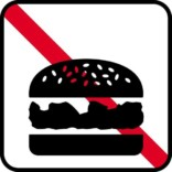 Mad forbud - Piktogram skilt