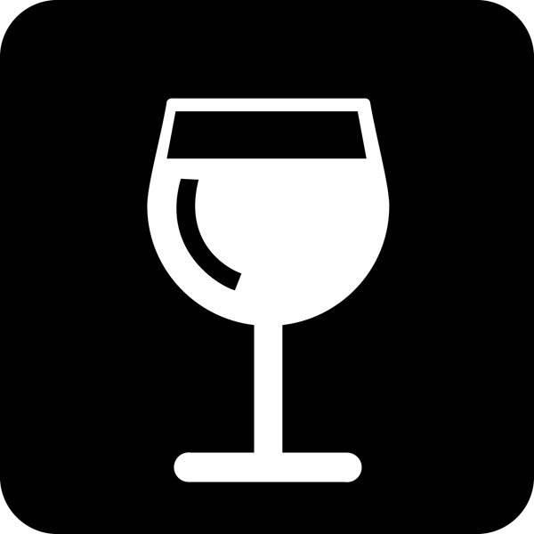 Vin. Piktogram skilt