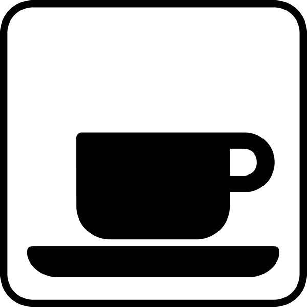 Kaffe. Piktogram skilt