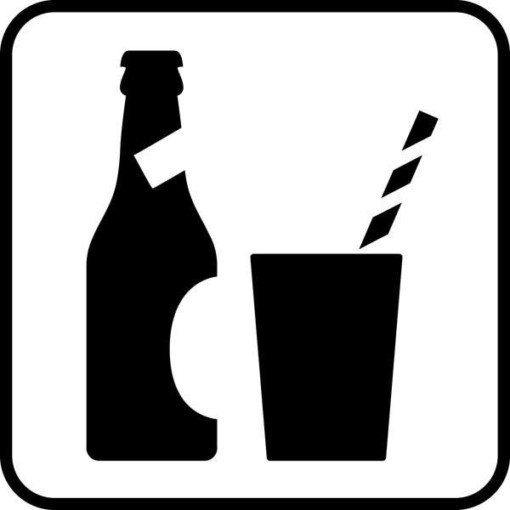 Drikkevare. Piktogram skilt