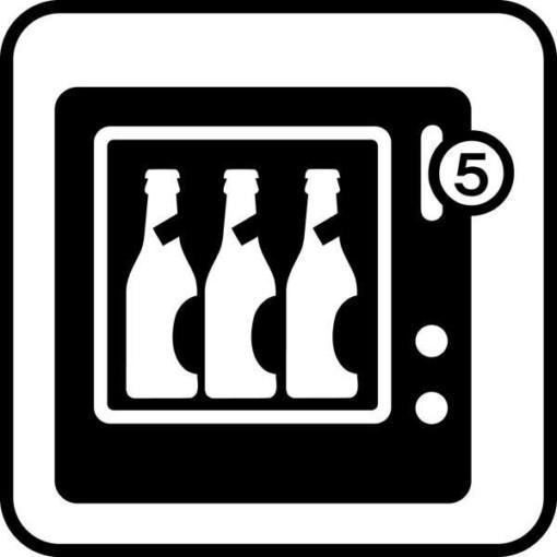 Drikkeautomat. Piktogram skilt