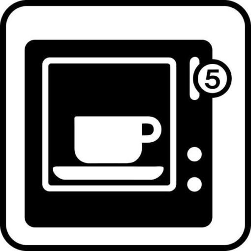 Kaffeautomat. Piktogram skilt