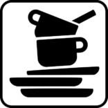Opvask. Piktogram skilt