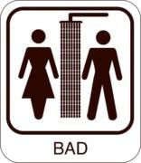 Herre Dame bad piktogram skilt
