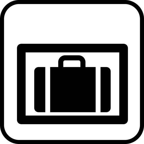 Bagageboks - piktogram skilt