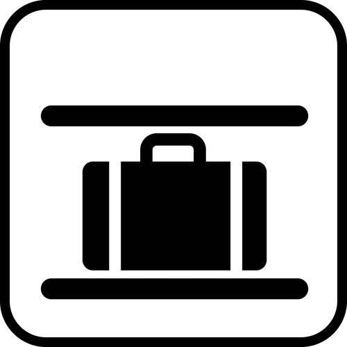 Bagagehylde - piktogram skilt