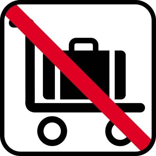 Bagagevogn forbud. - piktogram skilt