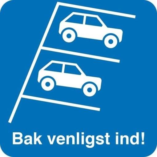 Bak venligst ind. Parkeringsskilt