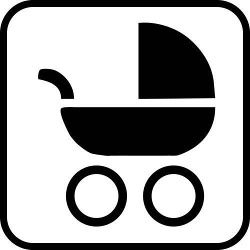 Barnevogn - piktogram skilt