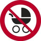 Barnevogne forbudt skilte