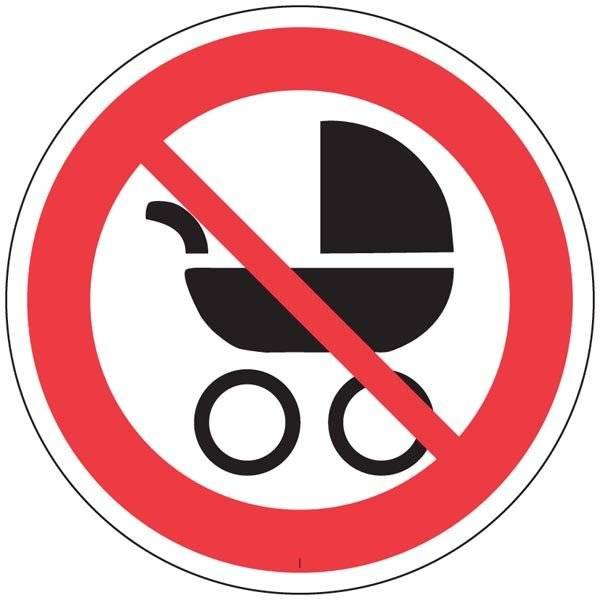 Barnevognsforbud skilt