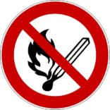 Åben Ild forbudt skilte
