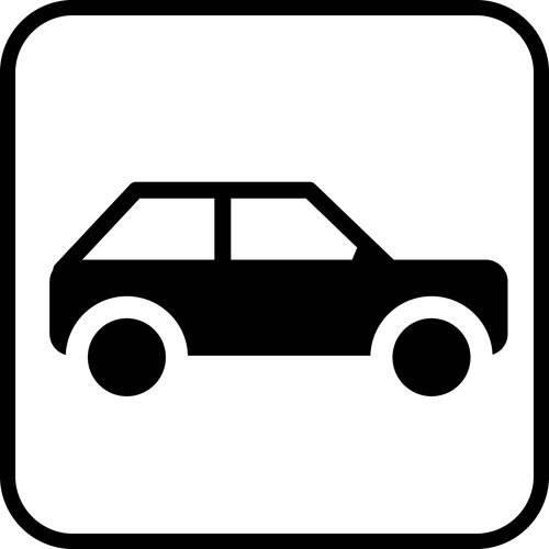 Bil - piktogram skilt