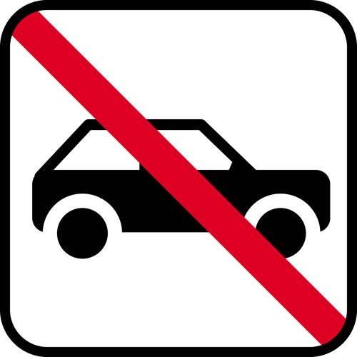 Bil forbud - piktogram skilt