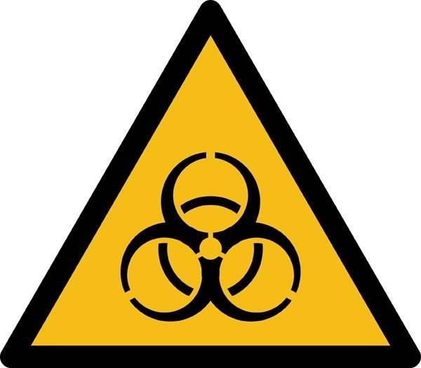 Biologisk fare ISO_7010_W009. Advarselsskilt