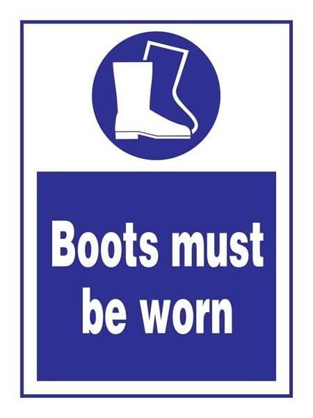 Boots Must Be Worn Påbudsskilt