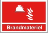 Brandmateriel Brandskilt