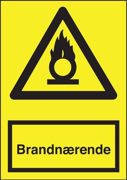 Advarselsskilt - Brandnærende