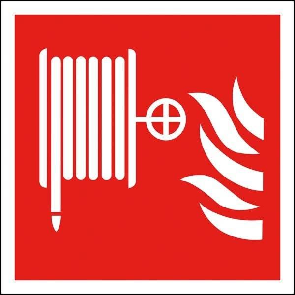 Brandslange piktogram skilt