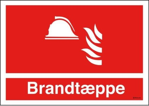 Brandtæppe Brandskilt