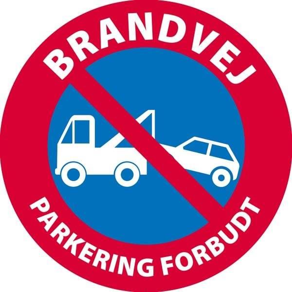 Brandvej Parkering forbudt skilt