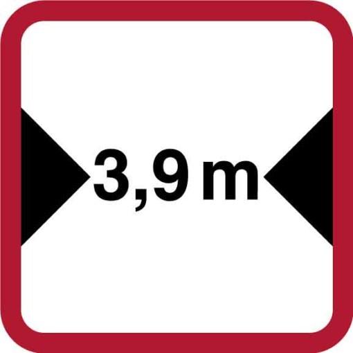 Trafikskilt - Bredde angivelse