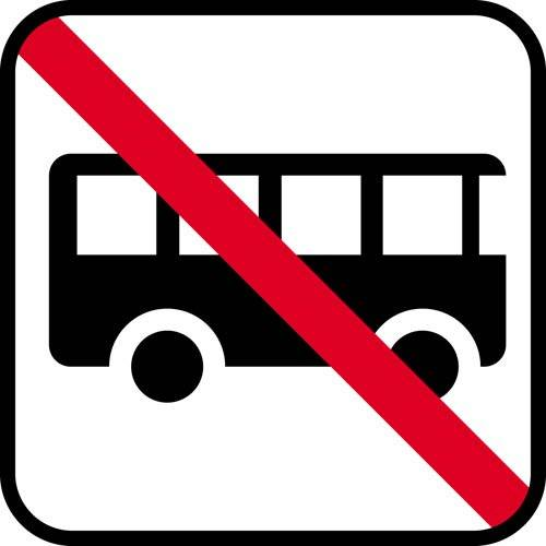 Bus forbud - piktogram skilt