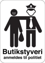 Butikstyveri anmeldes til politiet skilt