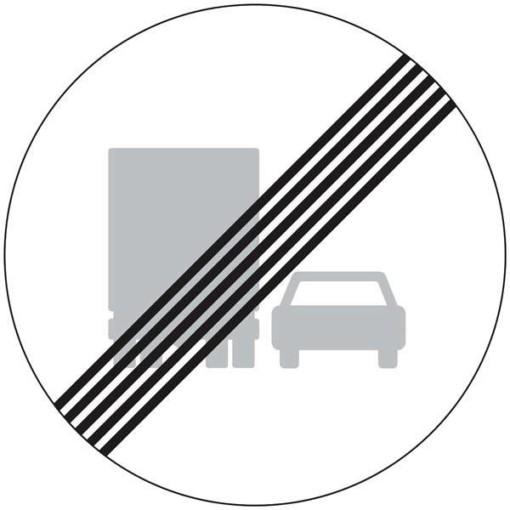 C54 Lastbil overhalingsforbud ophørstavle skilt