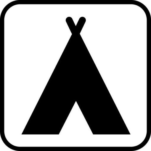 Camping - piktogram skilt