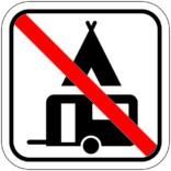 Camping forbudt - Piktogram skilt