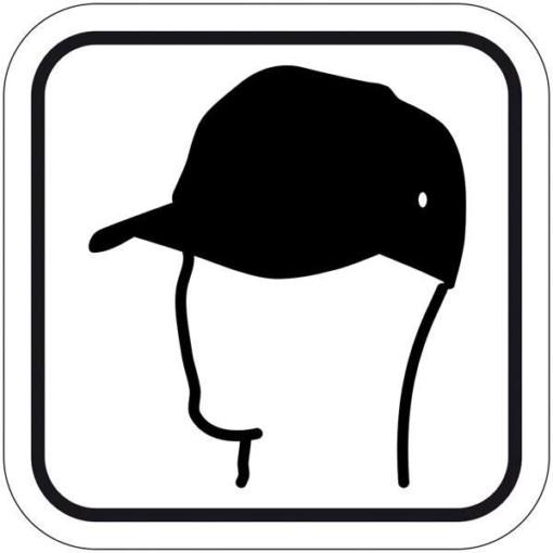 Caps. Piktogram skilt