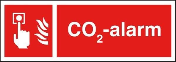 CO2-alarm Brandskilt