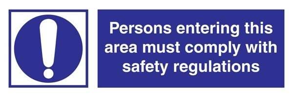 Comply With Regulations Påbudsskilt